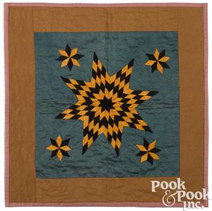 Pennsylvania patchwork star doll quilt