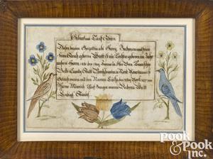 Berks County, Pennsylvania birth certificate