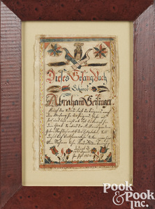 Pennsylvania ink and watercolor bookplate