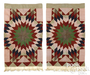 Pair of patchwork starburst pillow shams