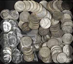 US silver half dollars, 49 ozt., etc.