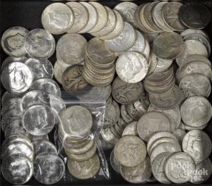US silver half dollars, 49 ozt., etc.