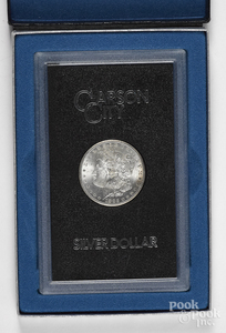 1882 Carson City Morgan silver dollar.
