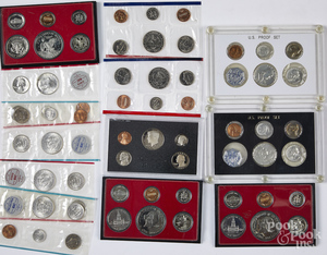 Six US proof sets, etc.