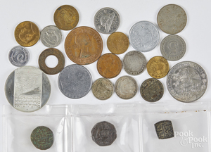 Foreign coins, etc.