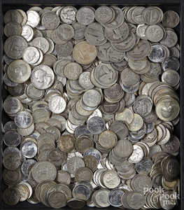 US silver coins, 45.5 ozt.