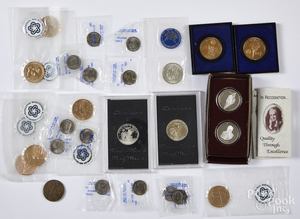 US coins and commemorative medals, etc.