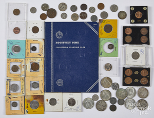 Collection of US coins, etc.
