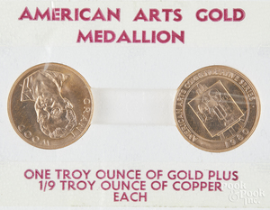 Two American Arts gold medallions, 1 ozt.
