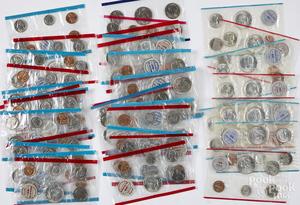 Four 1964 D and P mint sets, etc.