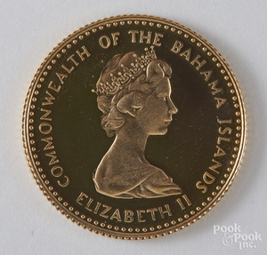 Commonwealth of the Bahama islands 1971 gold coin