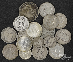 US silver coins, mostly dimes, 41 ozt.