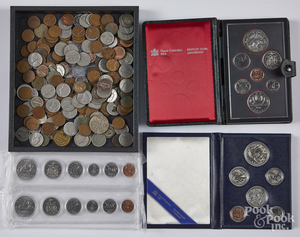 Miscellaneous US and Canadian coins.