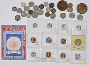 Miscellaneous coins, mostly US.