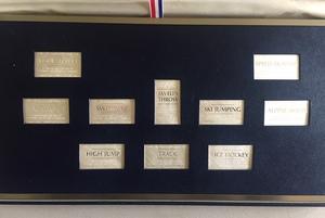 Cased set of ten sterling silver proof ingots.