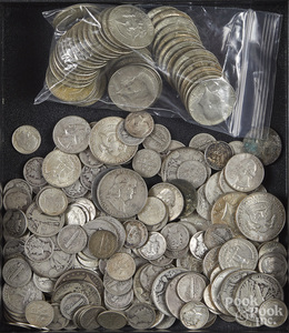 US silver coins, 25 ozt., etc.