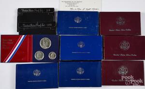 Four US Liberty coin sets, etc.