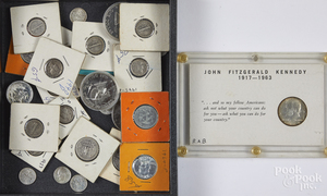 US coins, mostly silver.