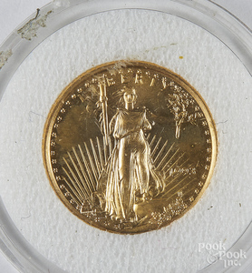 Liberty Eagle 1/10 ozt. fine gold coin.
