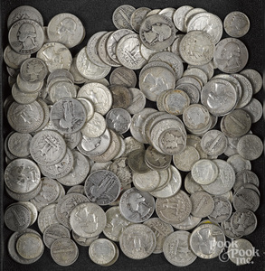 US silver quarters and dimes, 21.5 ozt.