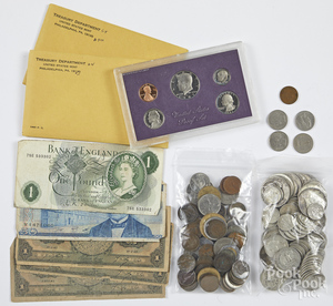 US silver coins, 18.7 ozt., etc.