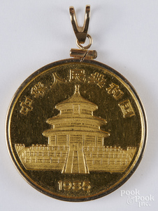 Chinese 1 ozt. fine gold coin.