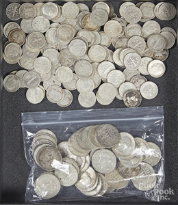 US silver dimes and quarters, etc.