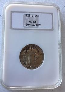 1923-S Standing Liberty quarter NGC MS 66.