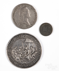 Polish coins and medal