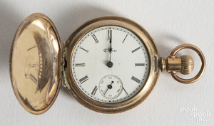 Elgin gold filled ladies pocket watch.