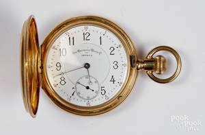 Non Magnetic Watch Co. 18K gold pocket watch