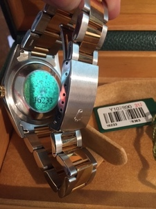 Rolex swim-proof men's wristwatch