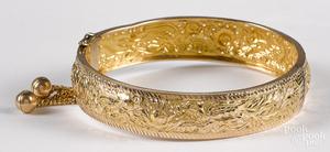 18K yellow gold bracelet, 11.1 dwt.