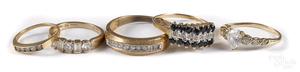 10K gold gemstone jewelry.
