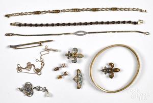 14K gold gemstone jewelry.