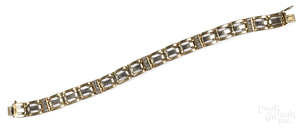 14K gold and diamond bracelet, 19.5 dwt.