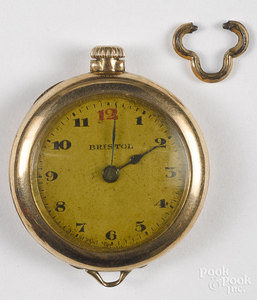 Bristol 14K gold pocket watch.