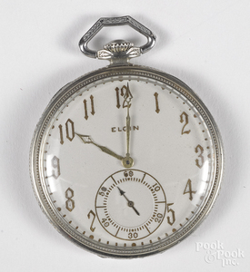 Elgin 14K Crusader pocket watch.