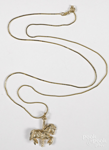 14K yellow gold necklace, etc.