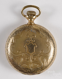 Illinois 14K gold Bunn Special pocket watch.