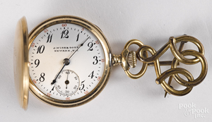J. Wiss & Sons 14K gold pocket watch.