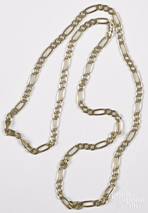 14K yellow gold necklace, 12.3 dwt.
