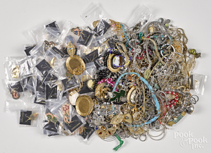 Assorted group of costume jewelry.