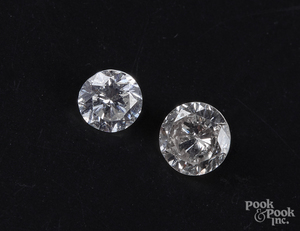 Two unmounted diamonds