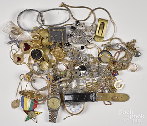 Assorted group of costume jewelry and watches, etc.