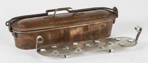Copper fish pan