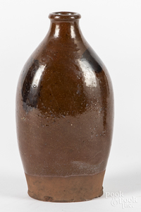 American redware flask