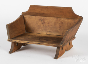 Child's painted wagon seat