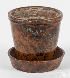 Pennsylvania redware flower pot, etc.