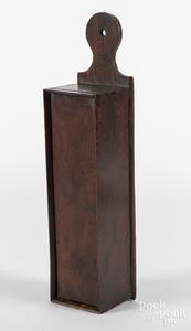 Burlwood slide lid candle box
